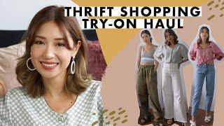 Thrift Shopping Try on Haul   Kryz Uy