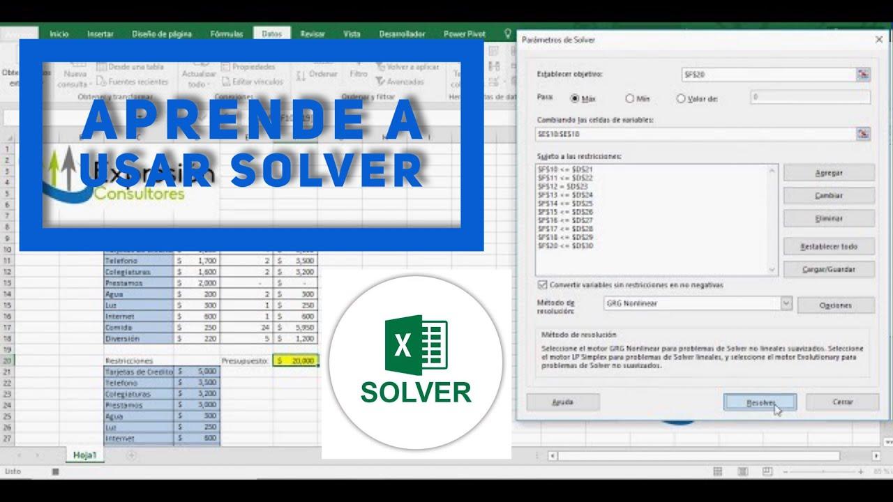 Aprende a usar SOLVER en Excel haciendo un PRESUPUESTO y utilizando Macros.