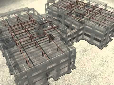 Allen Concrete Pre-Construction 3D modeling office building
