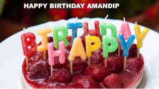 Amandip   Cakes Pasteles - Happy Birthday