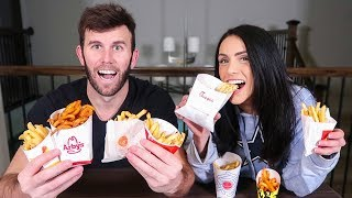 connectYoutube - FAST FOOD FRY CHALLENGE | Brodie & Kelsey