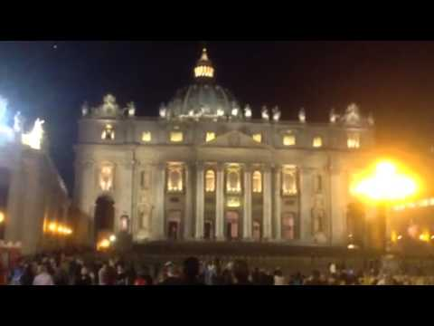 NEW LED LIGHTING ON ST. PETER'S FACADE AND DOME