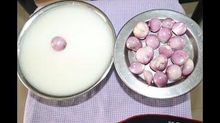 Food Challenge / பழைய சோறும் - பச்சை வெங்காயமும்  / Old Rice with Raw Onion - Food Eat Taste