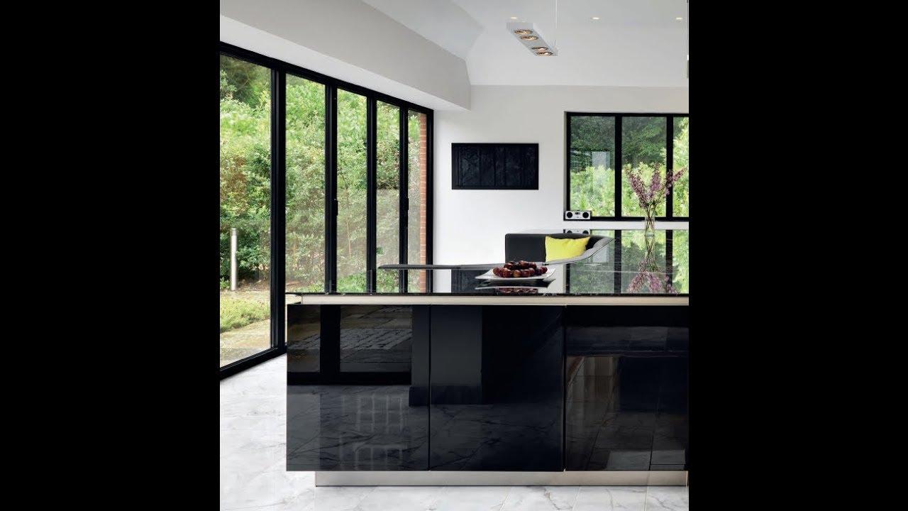 Modern Kitchen Interior with Kitchen Island Built-in Sofa