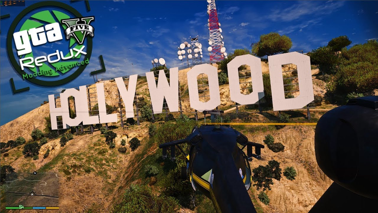 GTA V 2019 : MOD LOS ANGELES + HOLLYWOOD (LA Billboards / L A  Roads) |  TUTO FR INSTALL 100% !