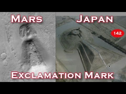 Huge Exclamation Mark / Keyhole On Mars Similar To Ones In Japan