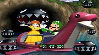 Mario Party 4 - All Tricky Minigames: Luigi vs Daisy vs Peach vs Yoshi