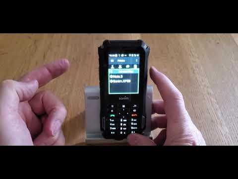 ESChat on a Sonim XP5S.