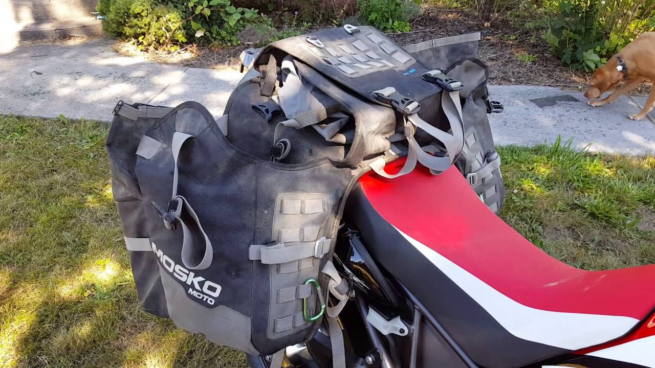 Mosko Moto Reckless 80 on a 2016 Honda Africa Twin CRF1000L - YouTube