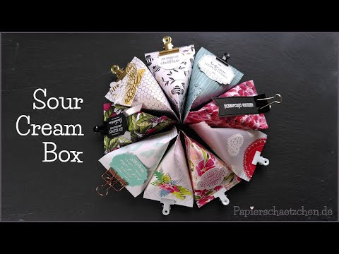 Sour Cream Box Anleitung Mit Paper Crimper - Stampin' Up! Verpackung Idee