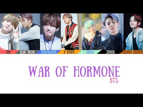 BTS(방탄소년단) - War of Hormone(호르몬 전쟁) Lyrics [Color Coded_Han_Rom_Eng]