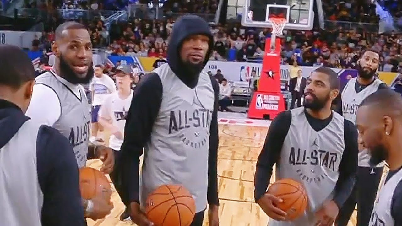 73b3a2d46c24 Half Court Shot Contest! LeBron James vs Kevin Durant