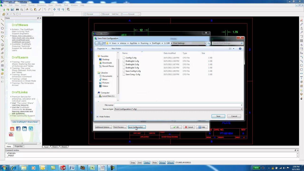 DraftSight Print Configurations