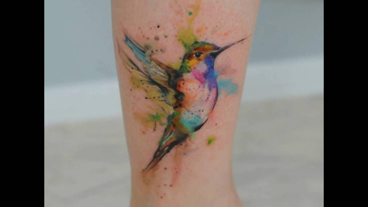 Tatuajes De Colibrí En Acuarela Youtube