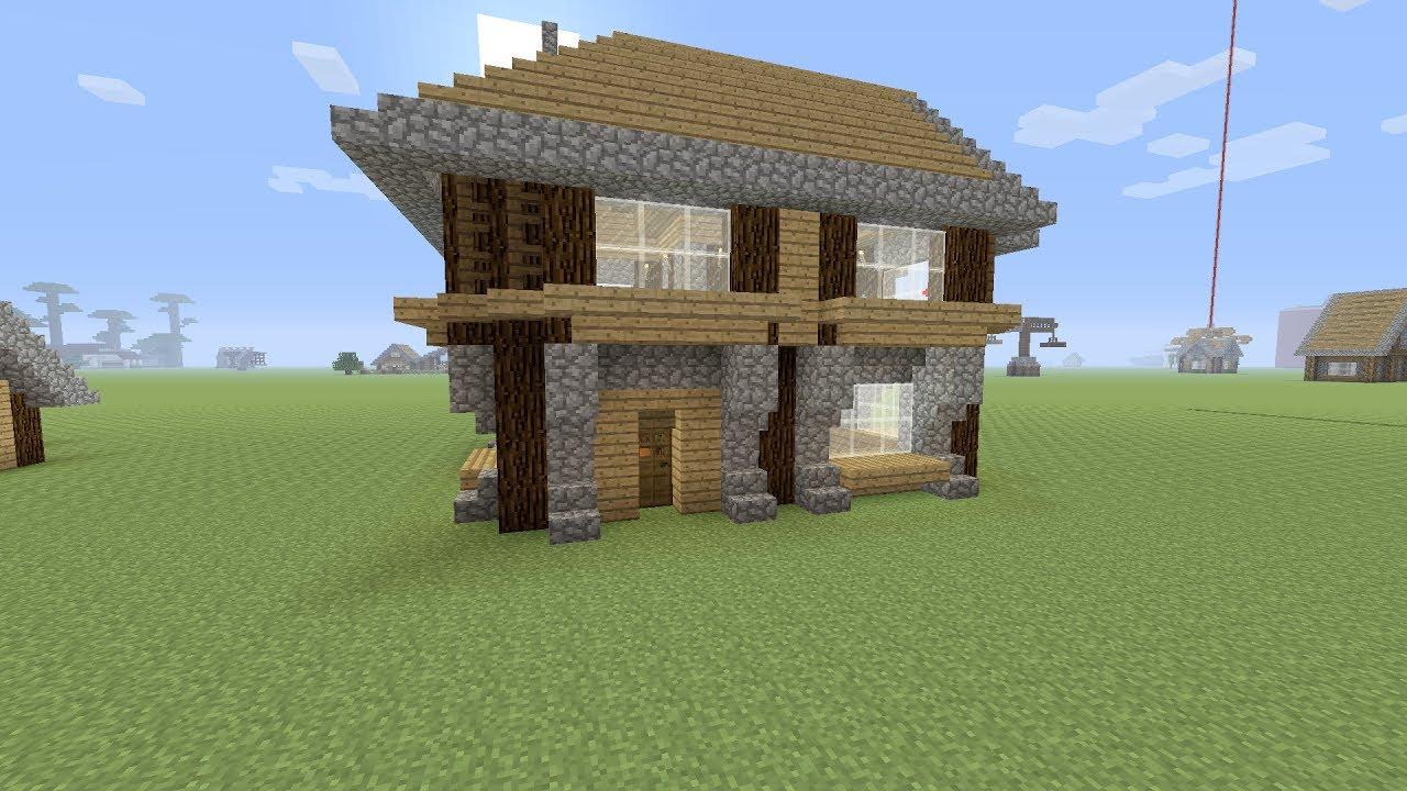 Minecraft een houten beginners huis maken youtube for Huis maken minecraft