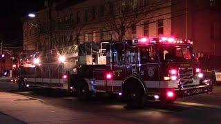 Passaic, NJ Fire Department Ladder 2, & Engine 2 Responding On Market & Monroe St
