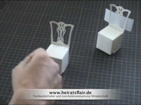 tischkartenhalter geschenkebox basteln youtube. Black Bedroom Furniture Sets. Home Design Ideas