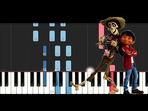 Coco - Remember Me (SLOW EASY PIANO TUTORIAL)