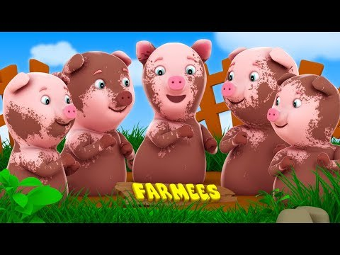 Five Little Piggies  Nursery Rhymes For Babies  Farmees