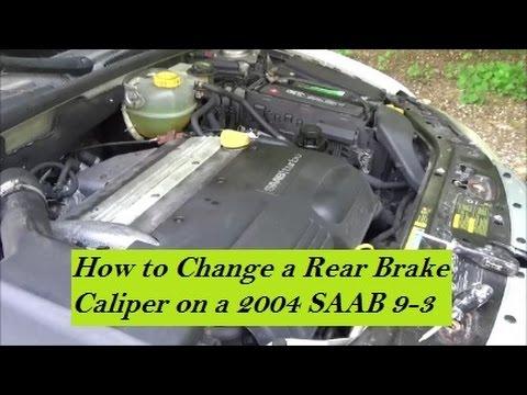 how to change a rear brake caliper 2004 saab 9 3 youtube. Black Bedroom Furniture Sets. Home Design Ideas