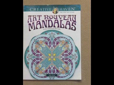 Art Nouveau Mandalas - Creative Haven Flip Through - YouTube