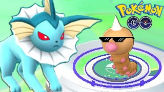 OMG!! WEEDLE Vs EVIL VAPOREON GYM BATTLE | POKEMON GO