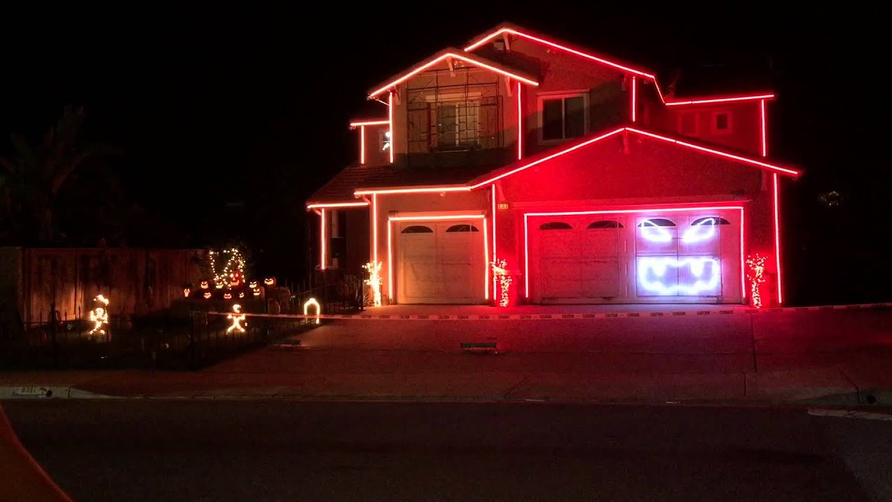this is halloween 2014 halloween light show house youtube