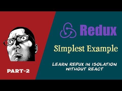 Redux simple example | Redux Tutorial | Redux for beginners