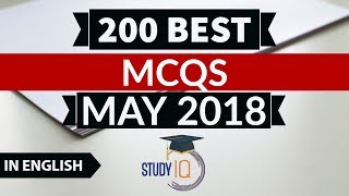 200 Best current affairs MAY 2018 in English  - IBPS PO/SSC CGL/UPSC/PCS/KVS/IAS/RBI Grade B 2018