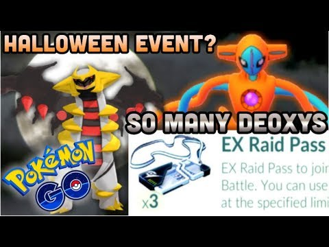 3 DEOXYS EX PASSES AT ONCE IN POKEMON GO | IS THE HALLOWEEN EVENT COMING? | SUICUNE BUG?