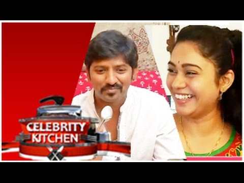 Actress Sandhya and Actor Sakthi in Celebrity Kitchen (30/11/2014)
