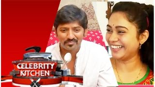 Actress Sandhya and Actor Sakthi in Celebrity Kitchen (30/11/2014)