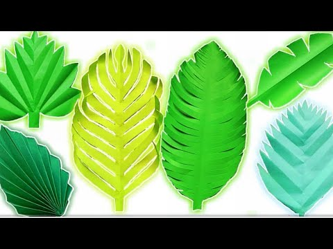 How to make Leaves with Paper // 6 Easy Paper Leaves for Tropical Decorating Ideas