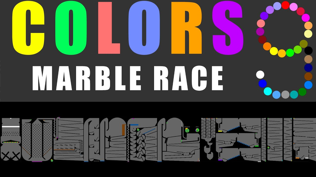 Amazing Colors Marble Race 9 in Algodoo \ Marble Race King