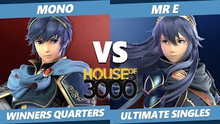 Smash Ultimate Tournament - Mono (Marth) Vs. Mr E (Lucina) SSBU Xeno 182 Winners Quarters