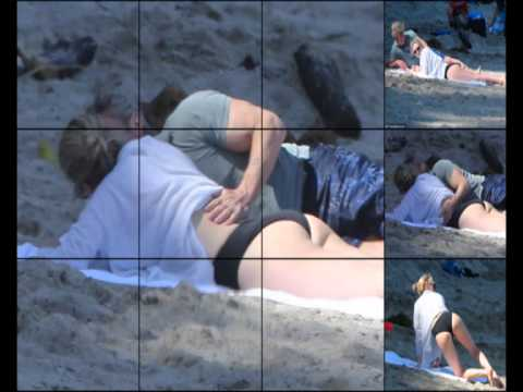 Charlize Theron and Sean Penn in the intimate footage on Malibu Beach