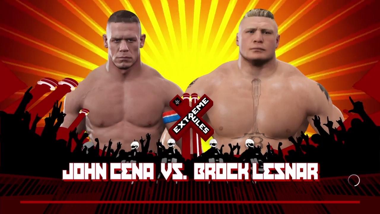 wwe 2k17 john cena vs brock lesnar extreme rules youtube