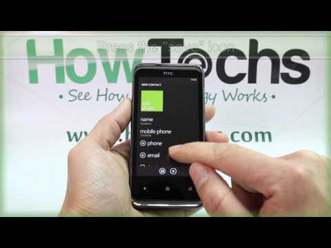How to Add a Contact on HTC 7 Pro