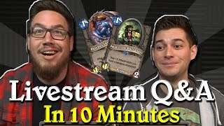 Everything from the Hearthstone Developer Livestream in just 10 Minutes