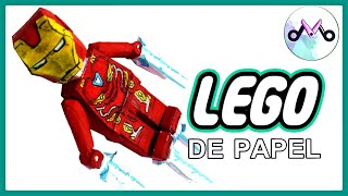 De Papel | Como Fazer HOMEM DE FERRO LEGO ARTICULADO! - Toy Maker (DIY)