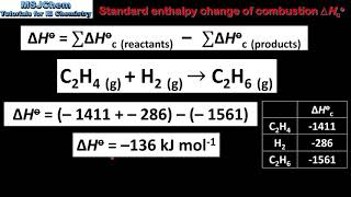5.1 Standard enthalpy chąnge of combustion (SL)