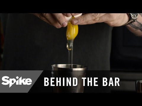 'Egg in a Mixed Drink?!' How To Make a Flip Cocktail | Behind The Bar