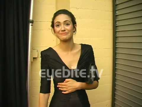 TWITPIC at EMMY ROSSUM 's Red Carpet Arrival, she loves TWITTER