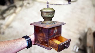 Restoring Rusty Vintage Coffee Grinder - Complete Restoration