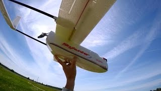 FPV airplane SKYHUNTER, сборка, полет и потеря камеры. Banggood