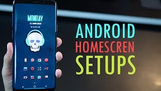5 Beautiful Android Homescreen Setups (using Galaxy S9 plus) Jun 2018