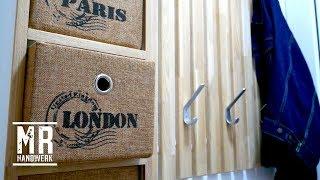 (1/2) Flur Garderobe mit viel Stauraum selber bauen ! Ausführliche Anleitung