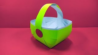 How to Make Paper Basket For Gifts - Easy Paper Craft