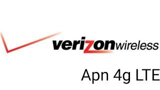 como configurar el APN de  VERIZON 4G LTE