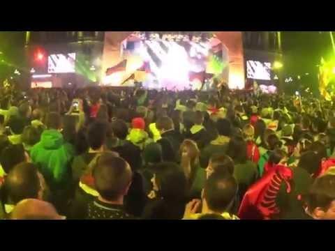 Выступление Полины Гагариной на Евровидение 2015. Прямая трансляция в Вене на Eurovision Village